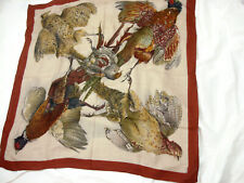 Authentic HERMES BELLE CHASSE SILK SCARF FOULARD CARRE, LINARES RARE