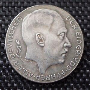 WW2 GERMAN COIN 1938 HITLER THIRD REICH
