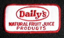 DAILYS FRUIT JUICE PRODUCTS EMBROIDERED SEW ON PATCH NATURAL ORANGE JUICE 4