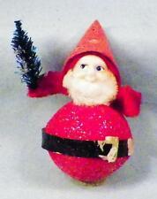 Vintage Santa Claus Christmas Tree Ornament Papier Mache Red Japan #1