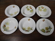 Alfred Meakin Glo-White Sherwood set of 6 fruit bowls 16.4cm diameter 3.4cm tall