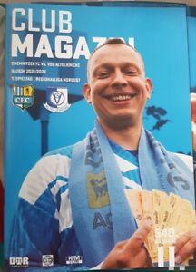 CLUB MAGAZIN #540, Chemnitzer FC - VSG ALTGLIENICKE, 21.08.21, RL NO 21/22