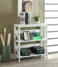 3 Tier Bookcase Hallway Display Storage Shelves Living Room Furniture Wood White