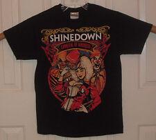 EUC Shinedown Carnival of Madness Tour 2010 Black 100% Cotton T Shirt Size S