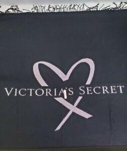 "Victorias Secret Pink Heart Black Throw COZY Blanket 51"" x 60"" Super Soft"