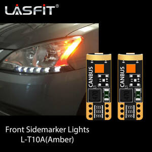 Lasfit Front LED Sidemarker Light Bulbs Canbus Amber T10 168 192 194 175 2821 2x