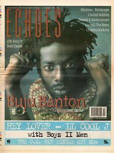 Echoes Newspaper 13 January 1996     Buju Banton    Gerald & Eddie Levert