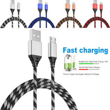 2-Pack Micro USB Fast Charger Data Sync Cable Braided Cord For Samsung Android