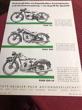 Puch 125 200 250S4 Prospekt Broschüre Brochure Prospect Depliant Repro