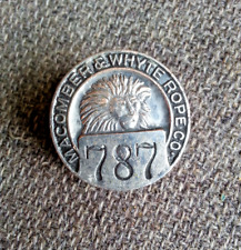 1910's era Macomber & Whyte Rope company Co.Worker employee badge pin