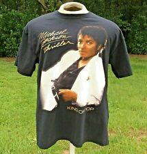 """Michael Jackson Thriller """"King of Pop"""" Vintage Men's T-Shirt Size Large Black"""