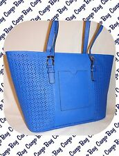 Tignanello Periwinkle Blue Tote Bag Style Purse New Authentic Leather Free Ship