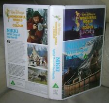 NIKKI WILD DOG OF THE NORTH VHS VIDEO Walt Disney Jean Coutu 1961 Early 80s VHS!