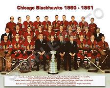 1960-61 CHICAGO BLACKHAWKS STANLEY CUP CHAMPIONS 8x10 TEAM PHOTO