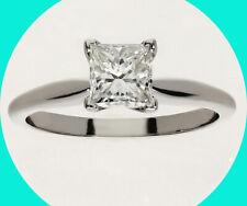 14K white gold princess brilliant New 1Ct G diamondsolitaire engagement ring