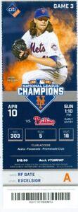 2016 Mets vs Phillies Ticket: Yoenis Cespedes & Odubel Herrera HRs
