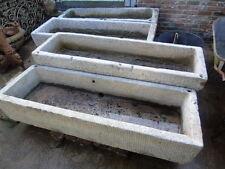 jardinière ,bac , auge en pierre bleu massif , reste +- 85 pièces,nettoyé !