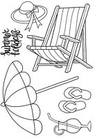 Woodware Clear Singles  Stamp -  The Deck Chair JGS519 NEW