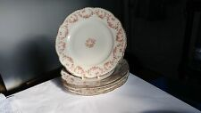"MZ Altrohlau Czechoslovakia Bridal Rose Set of Five 9 7/8"" Dinner Plates"