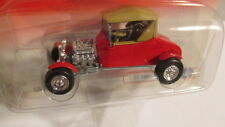 2002 Johnny Lightning Retro Rods 2 #8 1927 FORD T-ROADSTER   red with tan