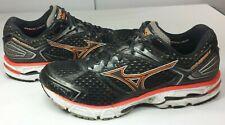 Mizuno Men's Wave Inspire 7 Running Shoes Black w Orange Size 11.5 EUR 45