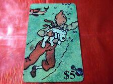 TRES RARE TELECARTE NEUVE - 5 Dollars - Tintin au far west 20  - 1000 ex