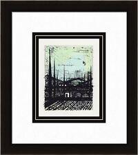 "Enchanting 1967 Bernard BUFFET Color Lithograph ""Provencal Landscape"" Framed COA"