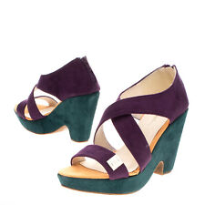 RRP €140 PIERRE CARDIN Clog Sandals Size 38 UK 5 US 8 Strappy Colour Block Heel