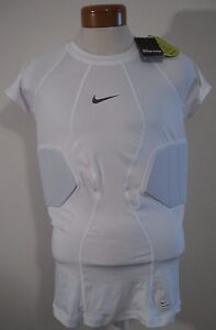 NWT Nike Pro Hyperstrong Fitted Mens 2-Pad Football Top Shirt XL,2XL White $70