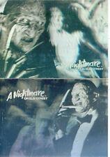 A NIGHTMARE ON ELM STREET 1991 IMPEL COFFIN HOLOGRAM SET H1 & H2 FREDDY KRUGER