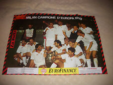 LOTTO N.2 POSTER A.C. MILAN CAMPIONE D'EUROPA 1989