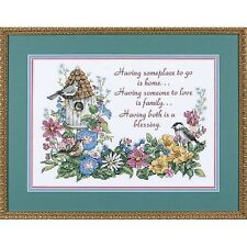 """DIMENSIONS FLOWERY VERSE 3160 Stamped Cross Stitch Kit 14"""" x 10"""""""