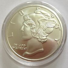 Mercury Dime 1oz Troy Ounce .999 Silver Bullion Round