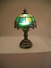 Light - LED Nickel Tiffany  Lamp 2331 replaceable battery dollhouse 1/12 scale