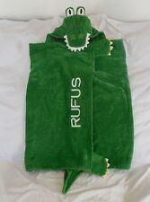"Pottery Barn Kids Icon Bath Wrap Alligator ""Rufus"" Green Nwot"