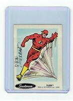 Sunbeam Bread DC Super Heroes Sticker Card #24 Dick Giordano Signed Flash