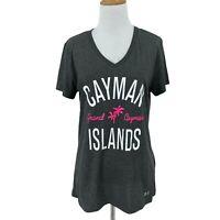 Cayman Islands Shirt Women's Size M V-Neck Under Armour Tech Heat Gear Athletic