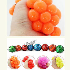 Anti Stress Face Reliever Mesh Grape Ball Autism Mood Squeeze Relief ADHD Toy