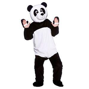 Adult GIANT PANDA Deluxe Mascot Fancy Dress Animal Zoo Wild Bear Costume Unisex