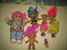 """8 RARE HTF RUSS TROLLS COLLECTABLE ACTION FIGURES LOT , """" SOLD AS IS """""""