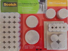 Scotch 288 Pcs Self Adhesive Felt Pads Heavy Duty Furniture Floor Protector,