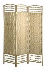 Paravent Raumteiler Holz Pappelholz Dekoration Modern Braun Deko