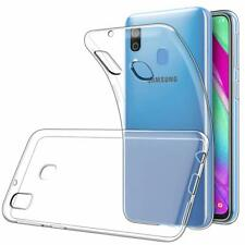 For Samsung Galaxy A20 Case Clear Silicone Slim Gel Cover & Stylus Pen