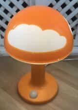 IKEA Orange Mushroom Retro Childrens Night Light Glow Table Lamp