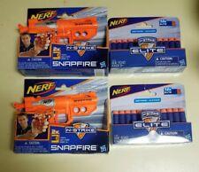 Hasbro Nerf N-Strike SnapFire Blaster Toy Dart Gun Lot of 2 & 2 Elite 12x Refill