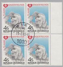 Österreich Austria 1732 Viererblock 75 Jahre Kinderfreunde - 1983 gestempelt