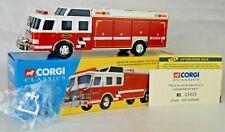 "Corgi #52201 E-One Cyclone II Rescue Fire Truck 7 3/4"" Long (1:50) Mint With Box"