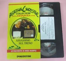 VHS film INCHIESTE DI MISS MARPLE Assassinio sul treno CHRISTIE (F166) no dvd