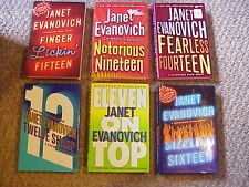 Lot of 6 Stephanie Plum Novels: 11,12,14,15,16,19 by Janet Evanovich (Hardcover)