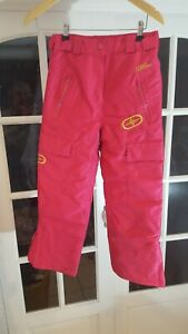"""a NO FEAR Girls Ski Trousers Salopettes Pink Size 9-10 years 24""""-26/23"""""""